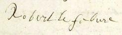signature Robert LEFEBVRE